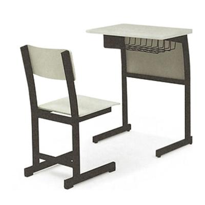 单人C型单层课桌椅