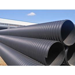 金坛工程埋地排污管 圣大管业DN800钢带HDPE波纹管