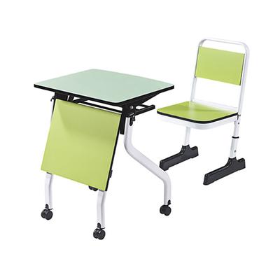 大学生单人单层C型套管升降课桌椅