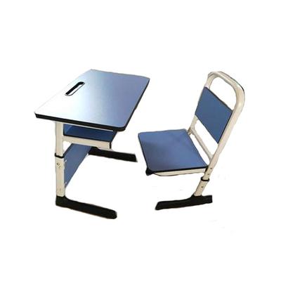 中小学单人C型单层套管升降课桌椅