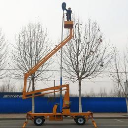 14米曲臂升降机 萍乡市路灯安装升降车现货直销