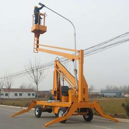 14米曲臂升降机 九江市外墙广告安装升降车报价直销