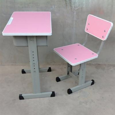 中小学单人单柱套管升降多层板课桌椅