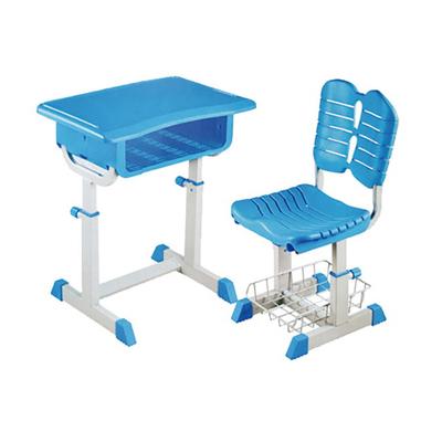 单柱单层套管升降课桌椅