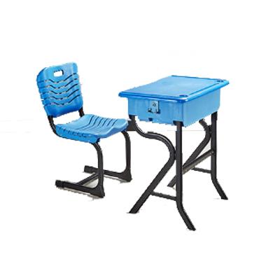 中小学单人R型固定课桌椅