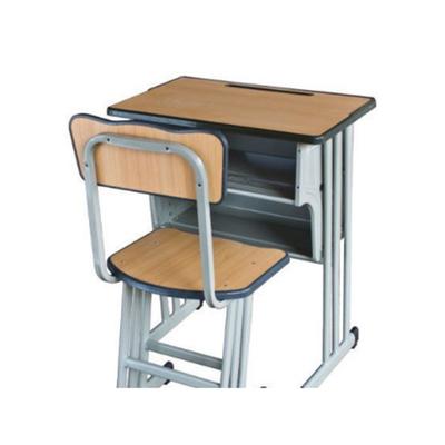 中小学单人三柱单层固定课桌椅
