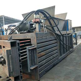 160吨全自动吨包袋卧式打包机价格 废纸皮边料卧式打包机