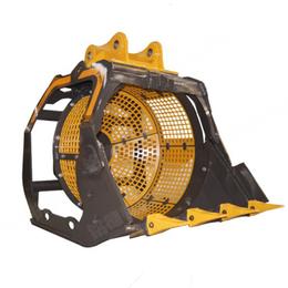卡特cat325d挖机出产地旋转筛分斗