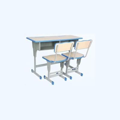 中小学双人单柱单层外升降课桌椅