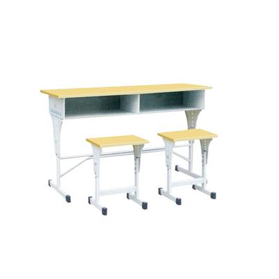 中小学双人单柱单层外升降课桌凳