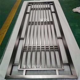 简约大方黑钛不锈钢屏风管材拼接不锈钢隔断屏风艺术装饰金属屏风