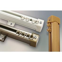 窗帘轨道中方轨铝合金直轨滑轨单双轨滑道侧装导轨罗马杆海口安装