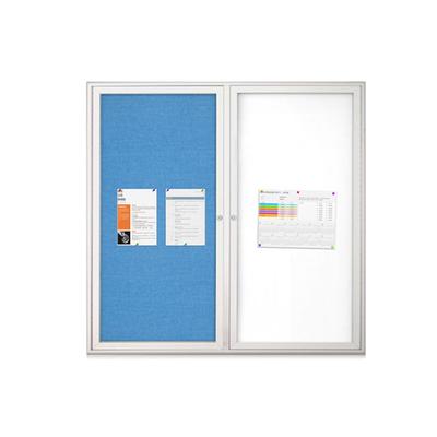 铝合金单面丙纶布面宣传栏