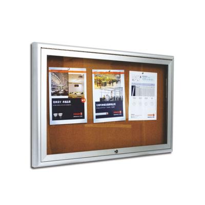 铝合金专用黑板单面丙纶布面宣传栏68