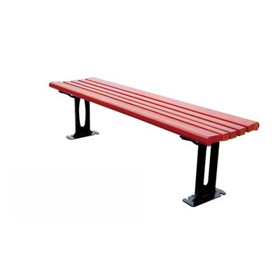 三人铝合金木条公园椅