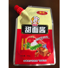 供应潞城甜面酱包装袋-调料包装袋-自立吸嘴袋-厂家定制生产