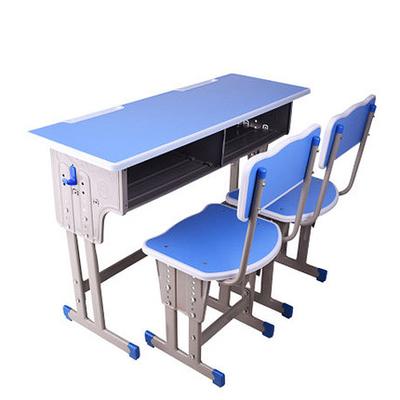 中小学双人双柱外升降课桌椅