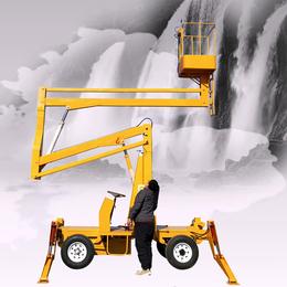 14米曲臂升降机 管道阀门安装升降平台柴油机升降车星汉举升机