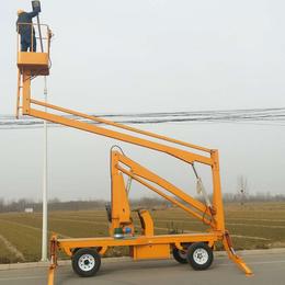 高空维修升降作业车 360度旋转升降机 野外维修升降作业平台