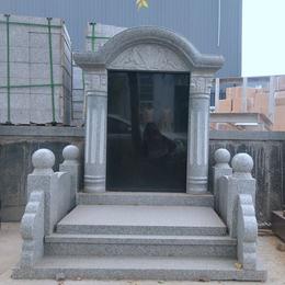 花岗岩墓碑 石材家族墓碑 农村墓地雕塑
