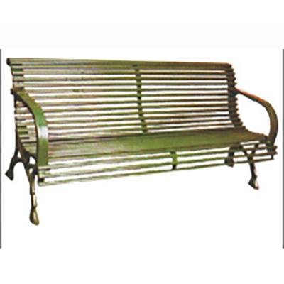 两人钢管扁钢公园椅