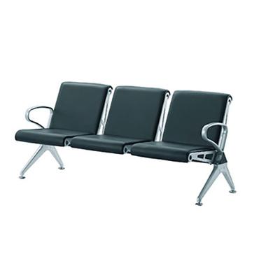 三人钢管PU连排椅