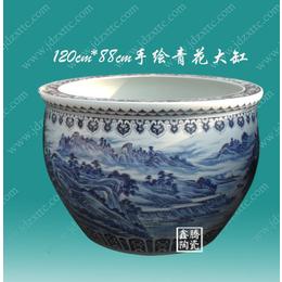 供应手绘青花陶瓷大缸 直径1.2米陶瓷缸价格 鑫腾陶瓷