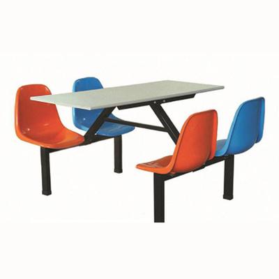 4位塑料固定椅餐桌