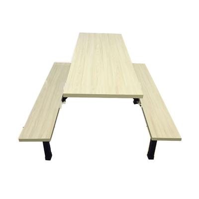 6位多层板固定条凳餐桌
