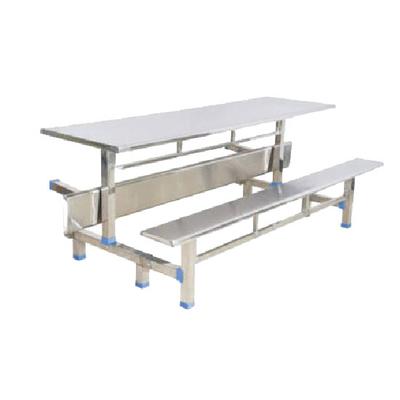 8位不锈钢翻转条凳餐桌