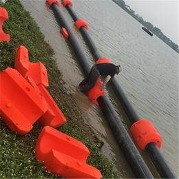 高耐磨水上抽泥浮体 PE外套管道浮漂介绍