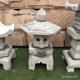 石雕石灯龛 青石头石灯笼 户外地灯景观摆件