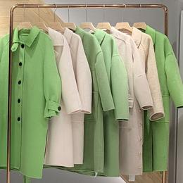 阿尔巴卡双面尼羊绒大衣广州服装批发 品牌女装10到30元批发