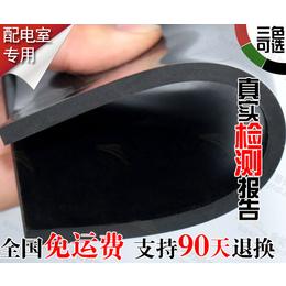 包头绝缘胶板厂家 电气房专用10千伏绿色防滑绝缘胶垫
