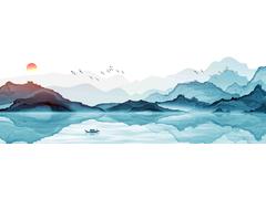 中国风意境水墨山水风系列挂画