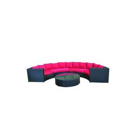 绒面亚麻圆形沙发