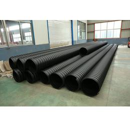 供应雄安新区市政排污管材圣大管业钢带增强HDPE聚乙烯波纹管