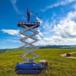 履帶升降機 特殊設計全自動行走升降車 液壓升降平台 舉升機
