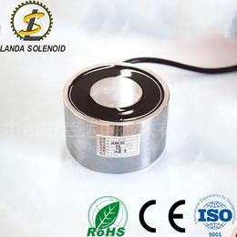兰达厂家直销超强吸力圆形吸盘式电磁铁H10060