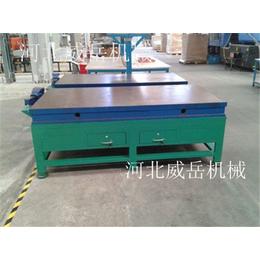 1级铸铁划线平台现货河北威岳直销铸铁平台T型槽焊接平台加厚款