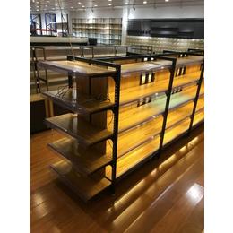 大同便利店零食店食品母婴店文具店单双面钢木货架厂家直销