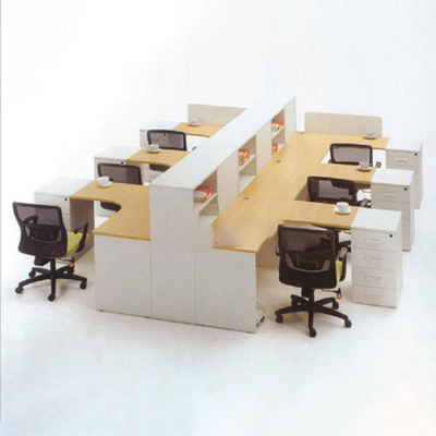多人多层板屏风办公桌