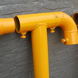 廣州廠家直銷建築工地樓梯臨邊防護欄杆立柱橫管彎頭直通