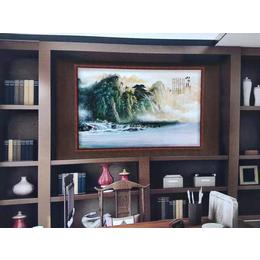 中式办公室山水系列瓷板挂画