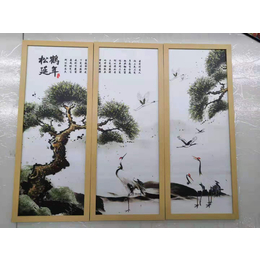 江西厂家供应卧室客厅山水动物艺术瓷板挂画