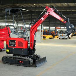 优质小型挖掘机生产厂家  园林排水沟小挖机价格