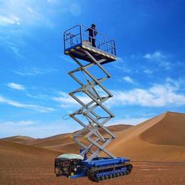 12米履带升降机 沙漠行走升降车 高空作业平台报价 登高车