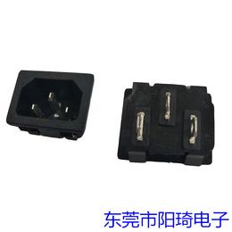 厂家供应品字尾电源插座三芯电源公座