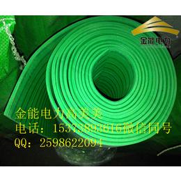 杭州生产高压电气房专用10千伏平板绿色绝缘胶垫厂家