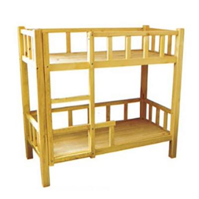 二人实木双层床
